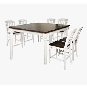 Orchard Park Soft Gray 7 Piece Counter Height Dining Set