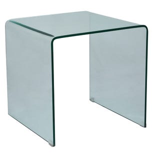 Jofran Clarity Tempered Glass End Table