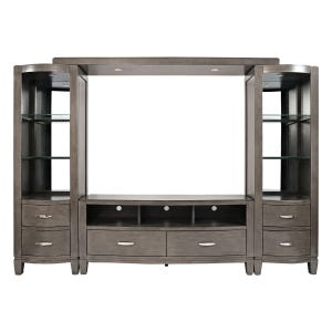 "Scarsdale Dark Gray 114"" Lighted Wall Unit"