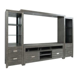 "Altamonte Brushed Gray 114"" Lighted Wall Unit"