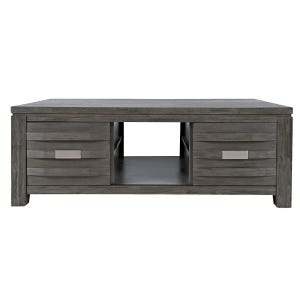 Altamonte Brushed Gray Storage Coffee Table