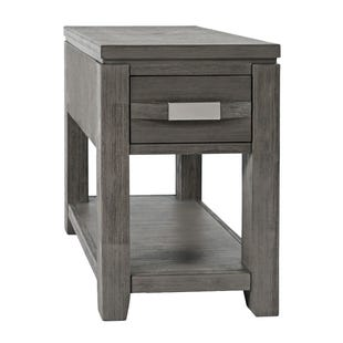 Altamonte Brushed Gray Power Chairside Table