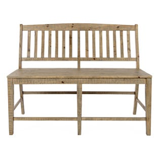 Carlyle Crossing Pine Slatback Counter Bench