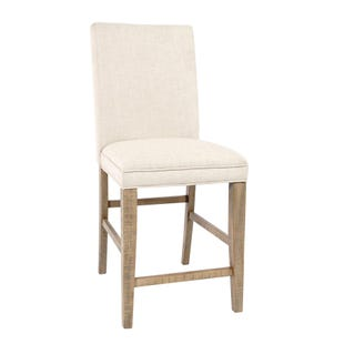 Carlyle Crossing Pine Fabric Counter Stool