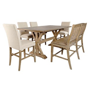 Carlyle Crossing Pine Extendable 6 Piece Counter Height Set