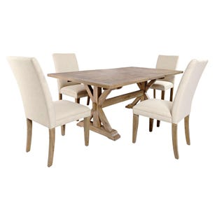 Carlyle Crossing Pine 5 Piece Dining Set