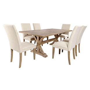 Carlyle Crossing Pine Extendable 7 Piece Dining Set