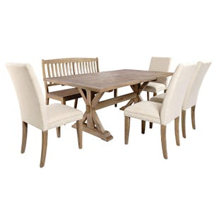 Carlyle Crossing Pine 6 Piece Dining Set