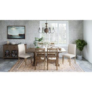 Carlyle Crossing Pine Extendable 6 Piece Dining Set