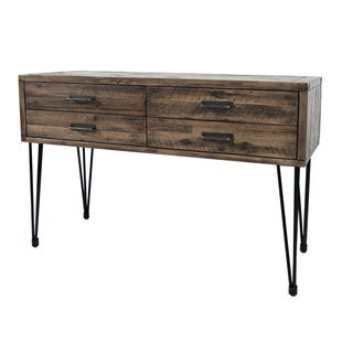 Blackstone Brown/Metal 2 Drawer Sofa Table