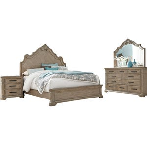 Pulaski Monterey Beige King Bedroom Set