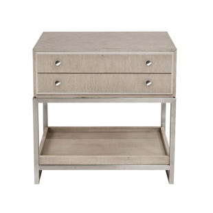 Pulaski Sutton Place Gray/Metal Nightstand w/Tray
