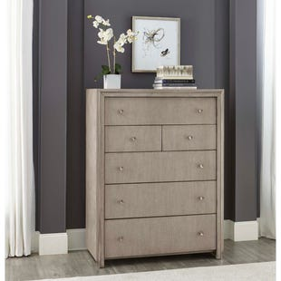 Pulaski Sutton Place Gray/Metal 6 Drawer Chest