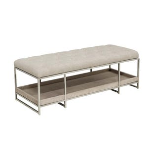 Pulaski Sutton Place Gray/Metal Bed Bench