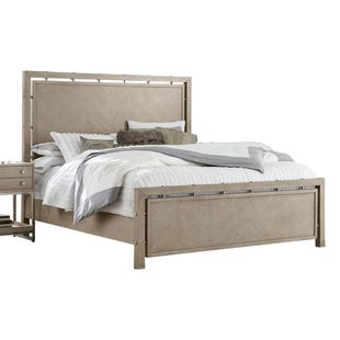Pulaski Sutton Place Gray/Metal Queen Panel Bed