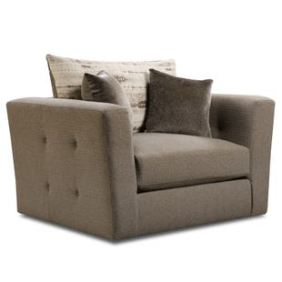 Zeus Gray Twill Chair and Half