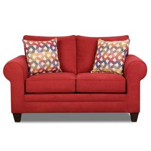 La La Land Red Loveseat