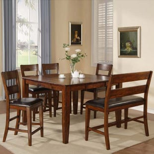 Holland House Emilie 6 Piece Counter Height Set with Bench