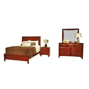 Holland House Cherry Ivy League Queen Bedroom Set
