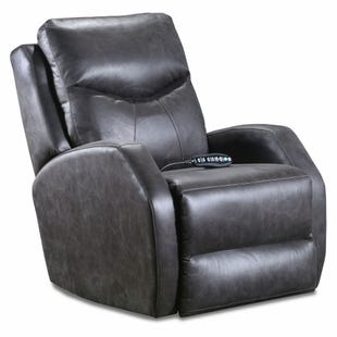 Tip Top SoCozi Gray Microfiber Power Recliner