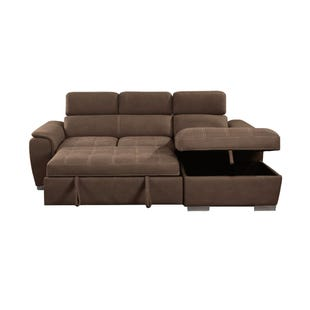 Lucca Beige Faux Leather Media Sleeper