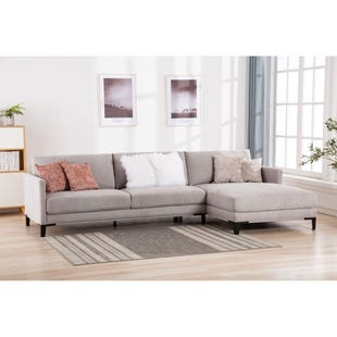 Hayden 2 Piece Modern Gray Sofa Chaise