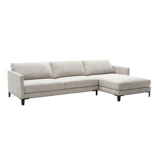 Hadyen 2 Piece Modern Gray Sofa Chaise