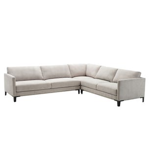 Hadyen 3 Piece Modern Gray Sectional