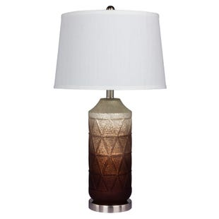 Jane Brown Ombre Geometric Frosted Lamp