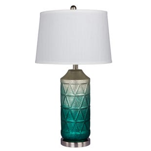 Jane Green Ombre Geometric Frosted Lamp