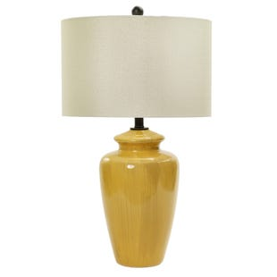Winona Rustic Amber Yellow Table Lamp