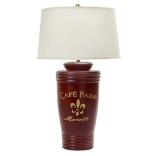 Cafe Paris Red & Gold Table Lamp