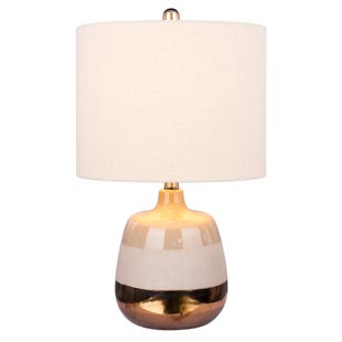 Pepper Metallic 3-Tone Striped Table Lamp