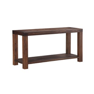 Meadow Brown Solid Wood Console Table