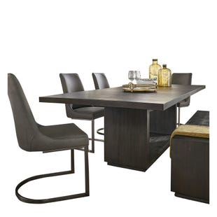 Oxford Modern Extendable 5 Piece Dining Set Gray