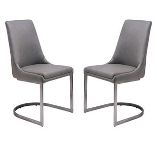 Oxford Set of 2 Side Chairs Gray