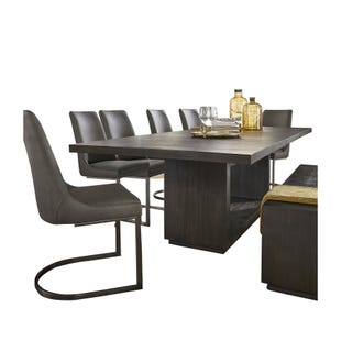 Oxford Modern Extendable 7 Piece Dining Set Gray