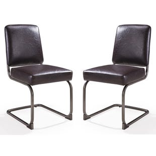 Oxford Set of 2 Side Chairs Chocolate