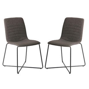 Kali Baylee Set of 2 Side Chairs Gray