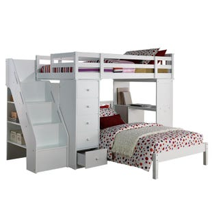 Albula Valley White Loft System and Twin Bed