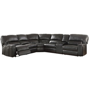 Saul 6 Piece Black Power Reclining Sectional
