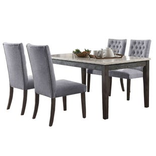 Tabello 5 Piece Gray/Marble  Dining Set