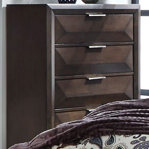 Newland Modern Cappuccino Brown 5 Drawer Chest