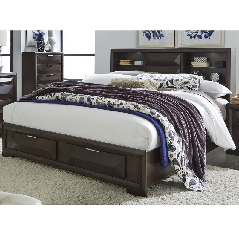 Newland Modern Storage King Bed