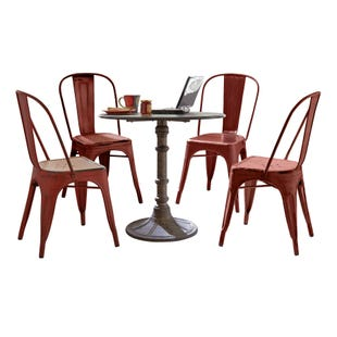 Vintage Red 5 Piece Dining Set