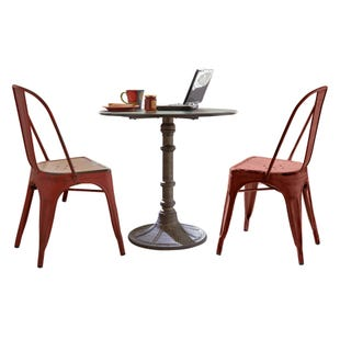 Vintage Red 3 Piece Dining Set