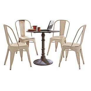 Vintage Cream 5 Piece Dining Set