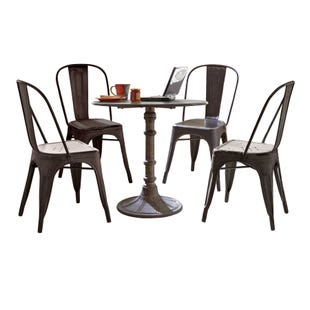 Vintage Black 5 Piece Dining Set