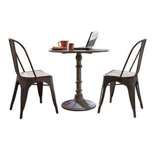 Vintage Black 3 Piece Dining Set
