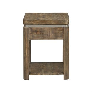 Urban Living Solid Reclaimed Pine Chair Side Table